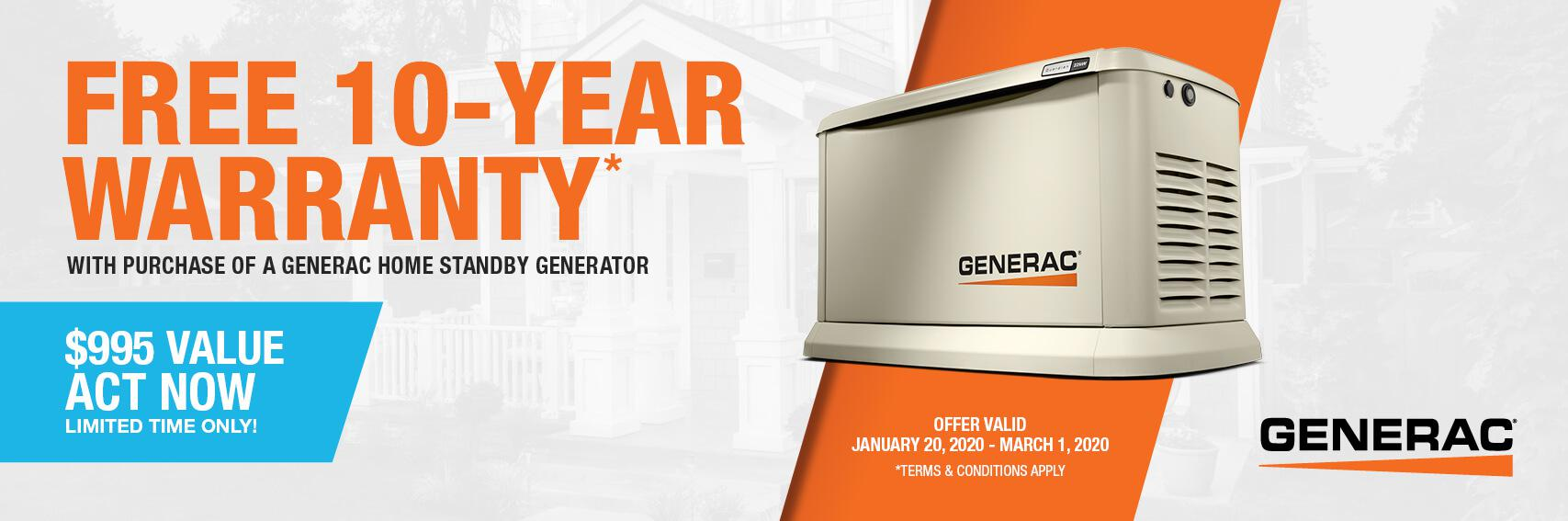 Homestandby Generator Deal | Warranty Offer | Generac Dealer | Tallahassee, FL
